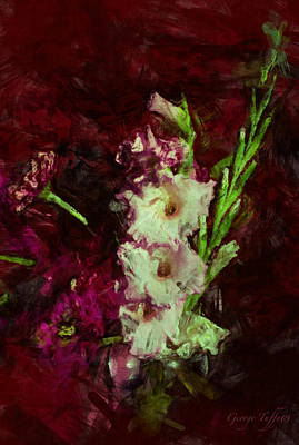 Photograph - Gladiolas by George Tuffy