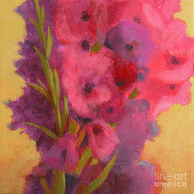 Warm Colors Painting - Gladiolas No. 1 by Melody Cleary