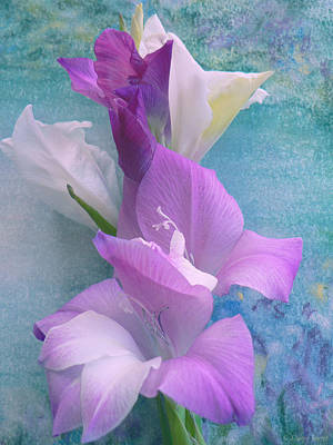 Gladiolas Art Print by Sharon Jogerst
