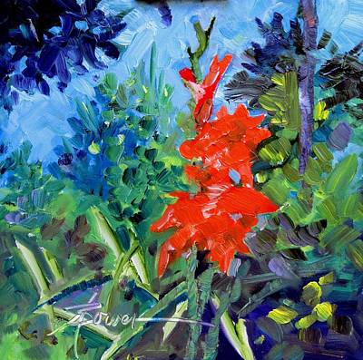 Painting - Gladiolus by Adele Bower