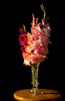 Red Gladiolus Photograph - Gladiolus Flower Bouqet by Keith Webber Jr