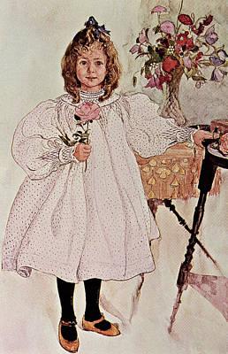Blonde Drawing - Gladys by Carl Larsson