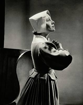 Photograph - Gladys Swarthout Wearing A Pilgrim Costume by Lusha Nelson