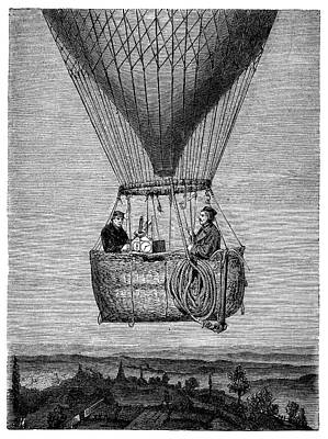 1862 Photograph - Glaisher-coxwell Balloon Flight by Science Photo Library