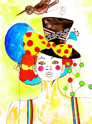 Painting - Glam Clown by Amy Sorrell