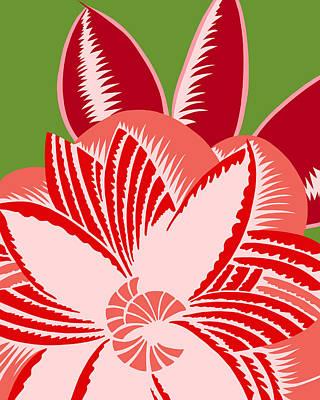 Digital Art - Glamarita Geranium by Nancy Lorene