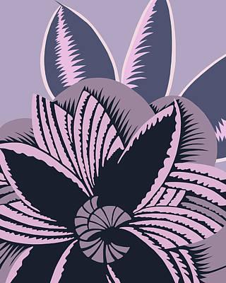 Digital Art - Glamarita In Mauve And Gray by Nancy Lorene