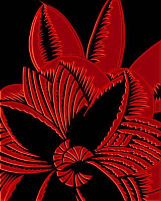 Digital Art - Glamarita In Red And Black by Nancy Lorene