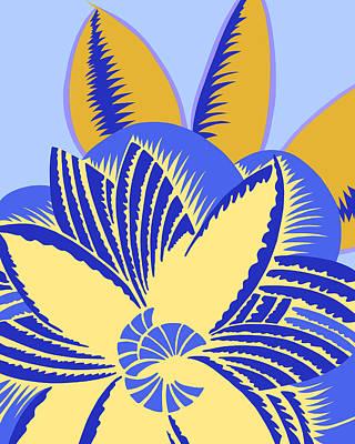 Digital Art - Glamarita Morning Bluebird by Nancy Lorene