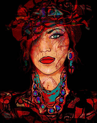 Red Hat Society Mixed Media - Glamor by Natalie Holland