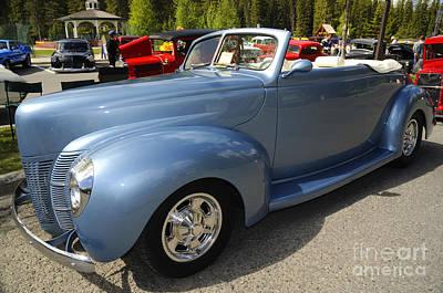 Photograph - Glamorous 1940 Ford Convertible by Brenda Kean