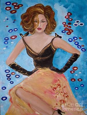 Painting - Glamorous Lady by Mona Mansour Jandali