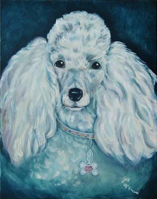Glamorous Poodle Art Print by Gail McFarland