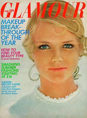 Eyeliner Photograph - Glamour Cover Featuring Cherryl Tiegs by William Connors