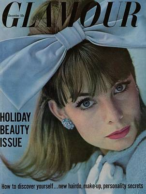 Earrings Photograph - Glamour Cover Featuring Jean Shrimpton by Sante Forlano