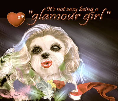 Digital Art - Glamour Girl-4 by Kathy Tarochione