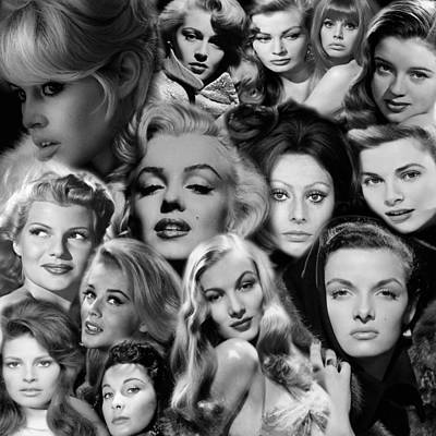 Bardot Photograph - Glamour Girls 2 by Andrew Fare