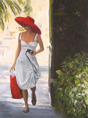 Glamour In A Red Hat Original by Connie Schaertl