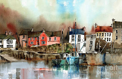 Eire Painting - Glandore Harbour West Cork by Val Byrne