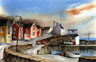 Glandore Village West Cork Art Print