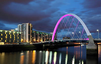 Night Scenes Photograph - Glasgow Clyde Arc by Grant Glendinning