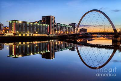Glasgow Clyde Arc  Art Print by John Farnan