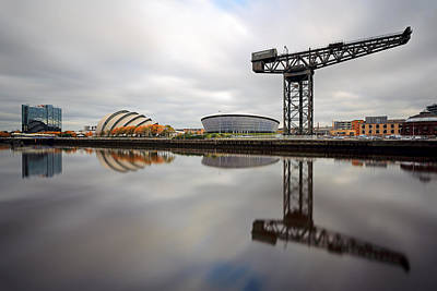 Photograph - Glasgow Clyde Waterfront by Grant Glendinning