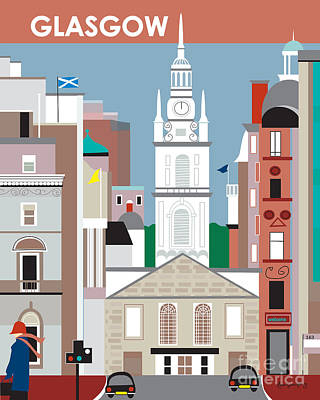Glasgow Print by Karen Young