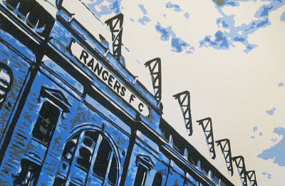 Painting - Glasgow Rangers Fc - Ibrox Park by Geo Thomson