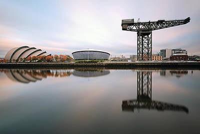 Photograph - Glasgow River Clyde Waterfront Reflections by Grant Glendinning