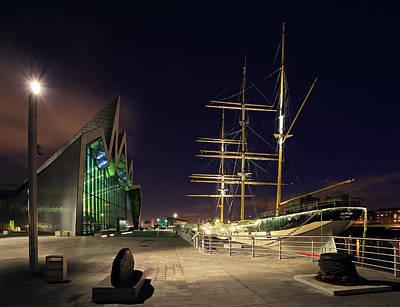 Night Scenes Photograph - Glasgow Riverside by Grant Glendinning