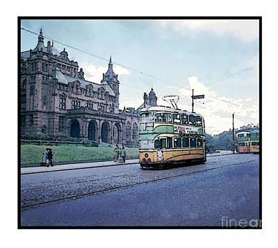 Tram Mixed Media - Glasgow Tram Car by Charlie Crawford
