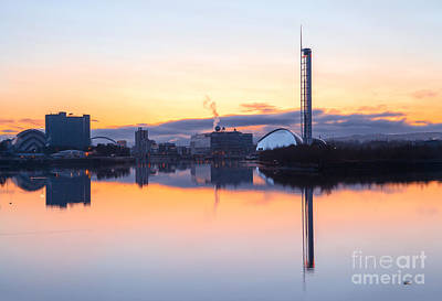 Exhibition Photograph - Glasgow Waterfront At Dawn Boxing Day by John Farnan