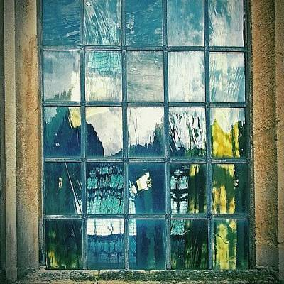 Norfolk Photograph - #glass ... #window #cromer by Alexandra Cook