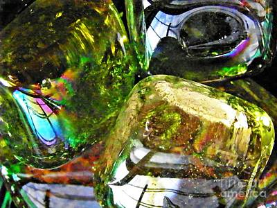Glass Abstract 119 Art Print by Sarah Loft