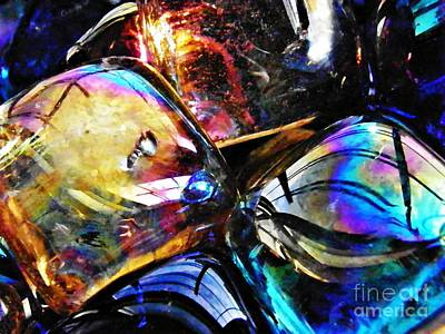Dichroic Photograph - Glass Abstract 120 by Sarah Loft