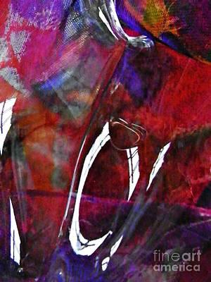 Glass Abstract 189 Art Print by Sarah Loft