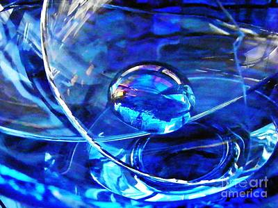 Blue And Turquoise Abstract Photograph - Glass Abstract 243 by Sarah Loft
