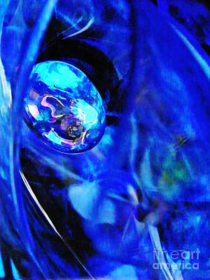 Blue And Turquoise Abstract Photograph - Glass Abstract 246 by Sarah Loft