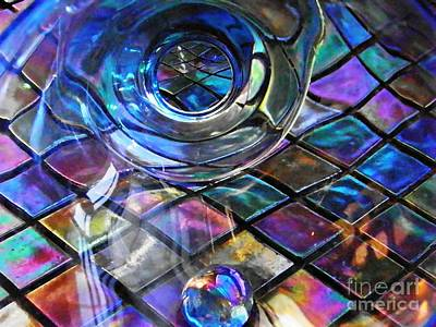 Glass Abstract 262 Art Print by Sarah Loft