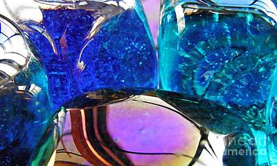 Photograph - Glass Abstract 27 by Sarah Loft
