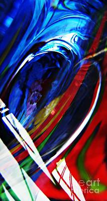 Glass Abstract 293 Art Print by Sarah Loft