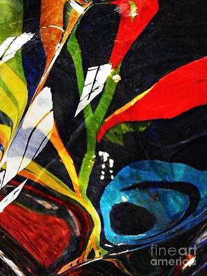 Glass Abstract 297 Art Print by Sarah Loft