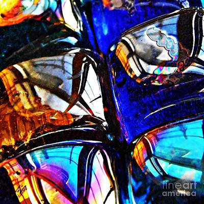 Jewel Tone Photograph - Glass Abstract 4 by Sarah Loft