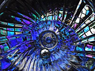 Glass Abstract 403 Art Print by Sarah Loft