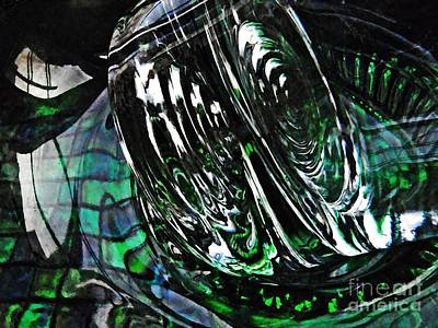 Photograph - Glass Abstract 415 by Sarah Loft