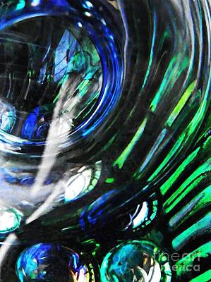 Photograph - Glass Abstract 423 by Sarah Loft