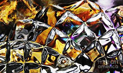 Photograph - Glass Abstract 447 by Sarah Loft