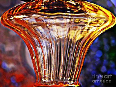 Glass Abstract 562 Art Print by Sarah Loft