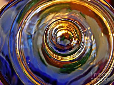 Photograph - Glass Abstract 564 by Sarah Loft